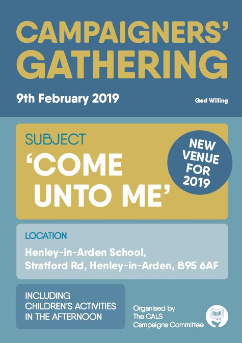 Campaigners' Gathering Programme 2019